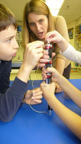 What happens when we put five batteries together?