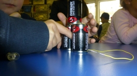 Three batteries? Can a pyramid work?