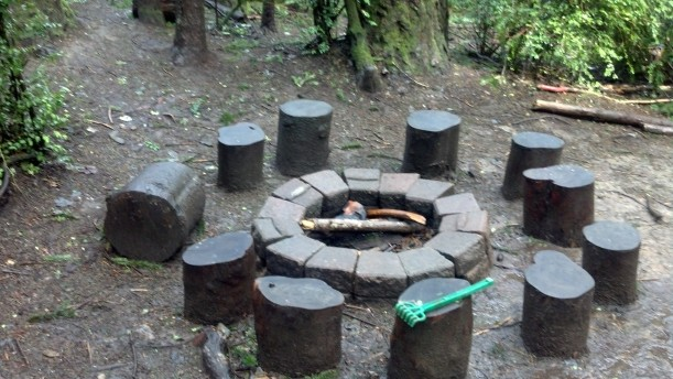 The fire pit at Main Camp.